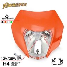 Motorcycle Headlight Headlamp Fairing With H4 Bulb For KTM EXC SX XC XCW XCF XCFW SXF SMR EXCF 125 150 250 300 350 450 530 ATV
