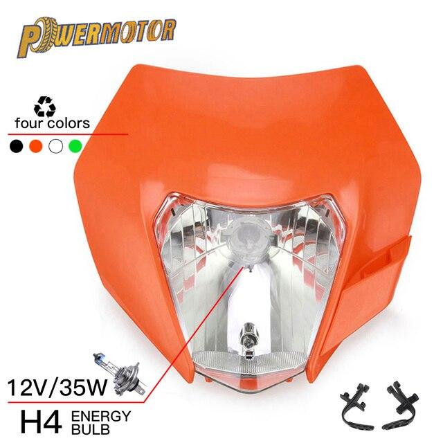 Motorrad Scheinwerfer Scheinwerfer Verkleidung Mit H4 Birne Für KTM EXC SX XC XCW XCF XCFW SXF SMR EXCF 125 150 250 300 350 450 530 ATV