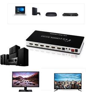 Image 2 - موزع فصل HDMI Matrix 4X2 مع toslink و صوت ستيريو 4kX 2K/30HZ معتمد