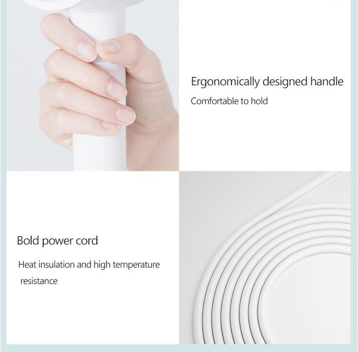 secagem rápida inteligente termostática secador de cabelo