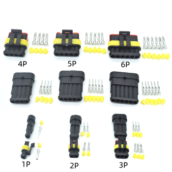 1 ensemble AMP 1P 2P 3P 4P 5P 6P Way étanche électrique Auto connecteur mâle femelle prise pour voiture moto