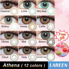 LAREEN 2pcs/pair Colored Contact Lenses Eye Athena Seriers Contact Lenses Color Year Toss Cosmetic Contact Lens for Eyes