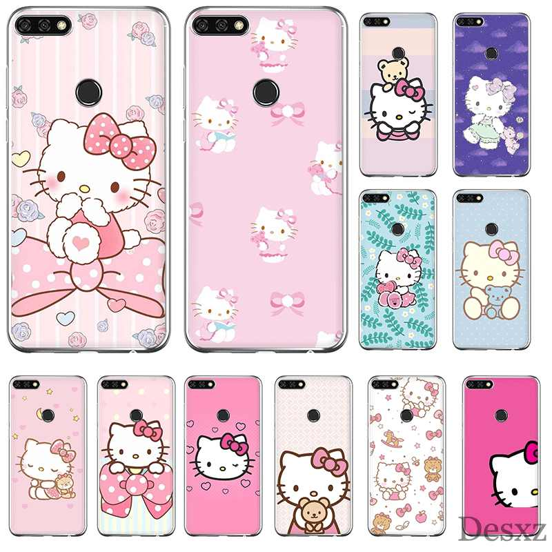 Funda del teléfono para Huawei Honor 6A 6C 7A 8 8X8 9 9X10 20 Lite Pro funda dura Hello Kitty Cool