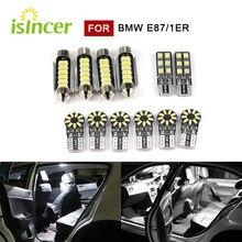 12 Uds luz LED Interior de coche cúpula mapa Kit lámpara luz de placa de licencia bombillas para BMW E87 1er 2003-2012-led lámparas