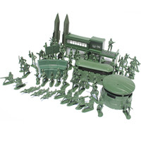 5CM Action Figure Toys 56pcs Military Plastic Toy Soldiers Army Men Figures Soldiers Playset Boys Toy Model For Children Gifts