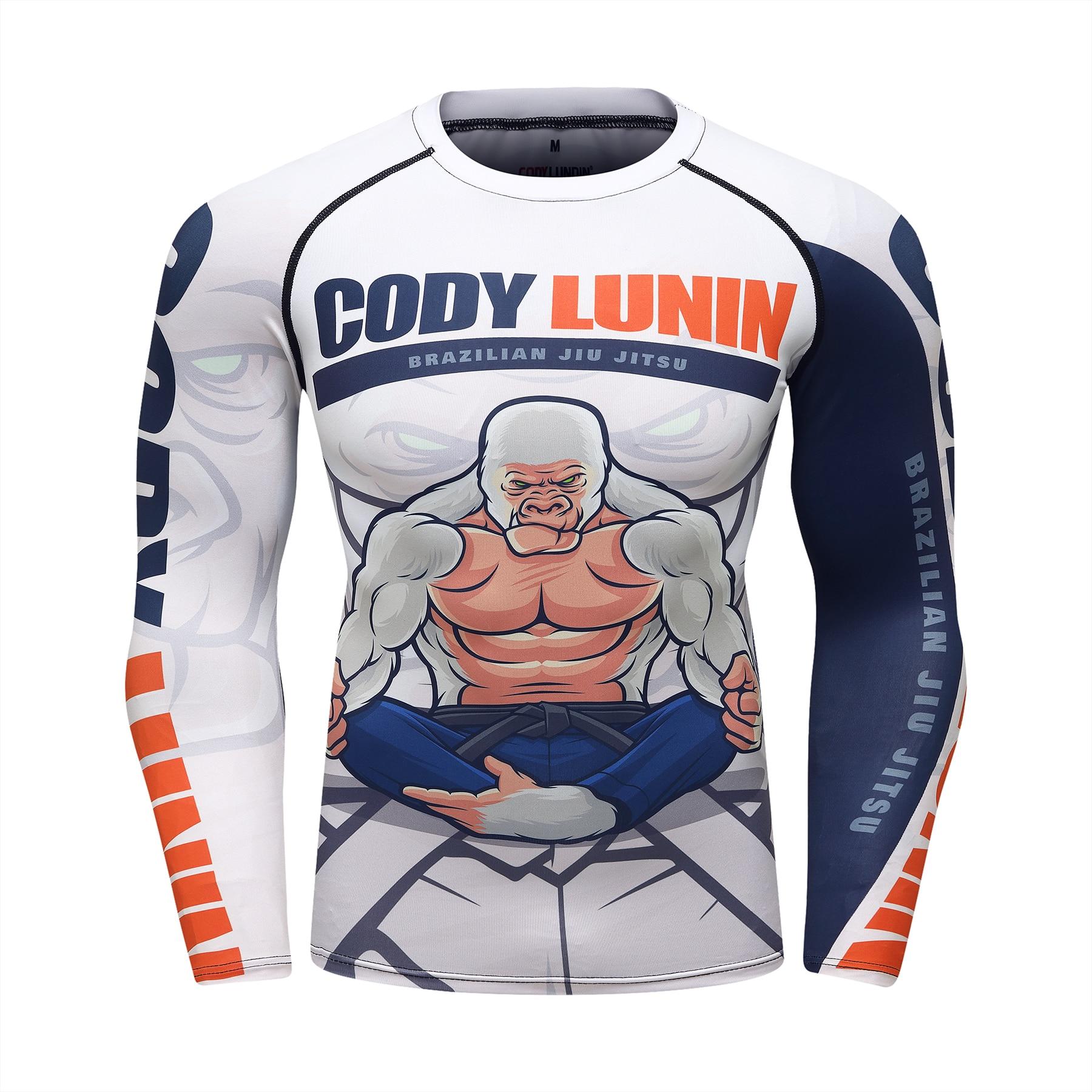 Boxing Jerseys Muay Thai Gym Training T-shirt Compression Men Sports Shirts MMA Rashguard Jiu Jitsu Fitness Men Boxeo T Shirt