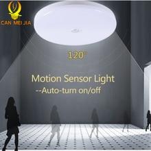 Led Ceiling Light Motion Sensor Lamp 12W 18W LED Round Lamps 220V Kitchen Surface Night Lights For Indoor Lighting