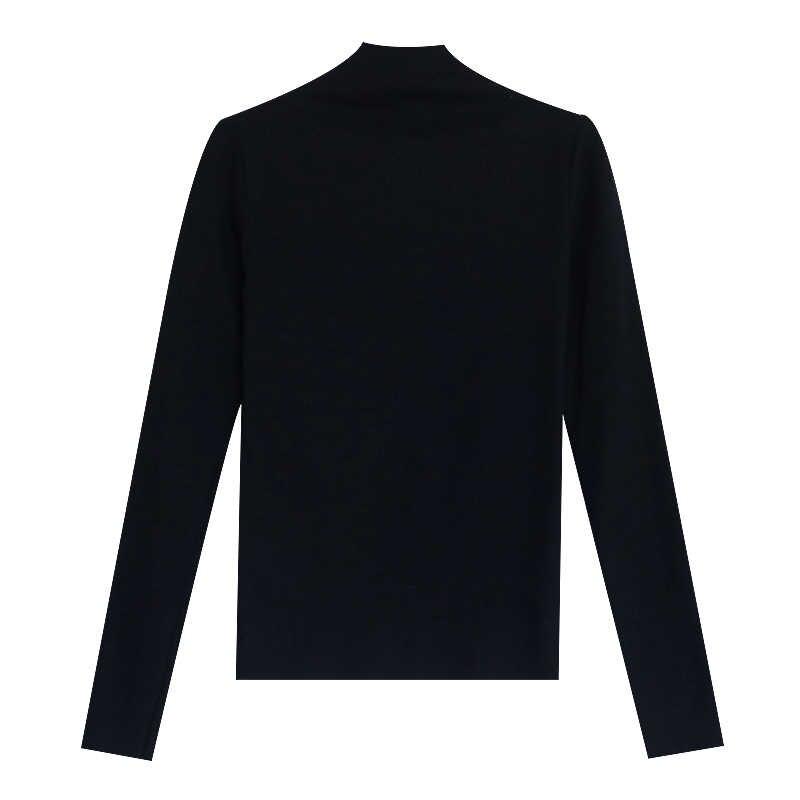 Boollili 봄 가을 여성 스웨터 화이트 터틀넥 풀오버 니트 스웨터 셔츠 한국 여성 스웨터와 풀오버