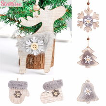 Staraise Wooden Christmas Embellishments Tree Pendant Rustic Xmas Decorations DIY Hanging Ornament Navidad Natale