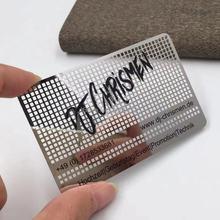 100 шт/лот металлическая карточка из нержавеющей стали с полировкой