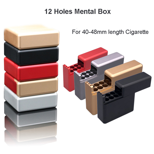 Antiproof 12 Holes Mini Mental Box For IQOS Cigarette For LIL Cigarette Carrying Case Cigarette Holder Box Case