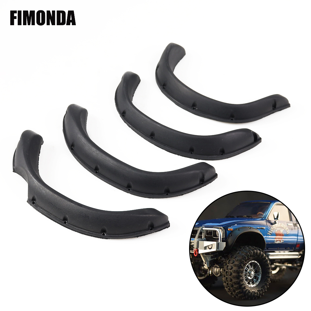 RC Car Rubber Fender Flares for 1/10 RC Crawler TAMIYA Hilux BRUISER RC4WD TF2 Mojave Body Parts(China)