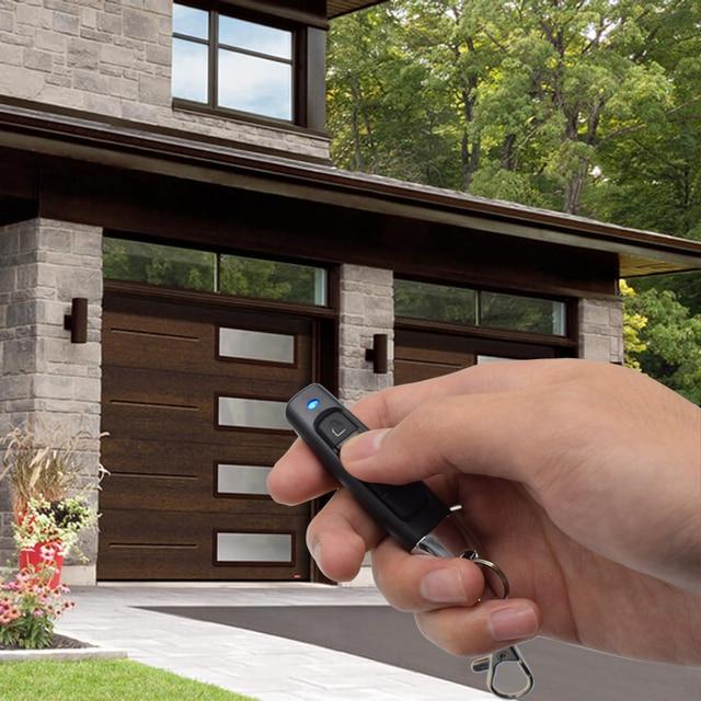 Télécommande de porte de garage   4 canaux 433MHz Clone de télécommande de code dapprentissage fixe, clé de contrôle de copie de commande 433.92MHz