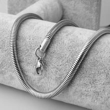 New Fashion 4.2MM Cool Link Chain Men Never Fade Silver Color Hiphop Snake Stainless Steel Necklace for Women