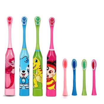 Elektryczne szczoteczki do zębów dla dzieci dwustronne końcówki do szczoteczki elekryczna szczoteczka do zębów lub wymienne główki do szczoteczki dla dzieci wzór kreskówki tanie i dobre opinie CN (pochodzenie) Brush Tooth Electric Fala akustyczna GR01 depends on your choose IPX7(full body waterproof) Teeth Whitening