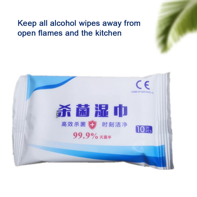 80pc Alcohol Wipes 75% Disinfection Sterilization Sanitary Wipes 99.9% Sterilization Clean Protective Wipes Disinfectant Wipes
