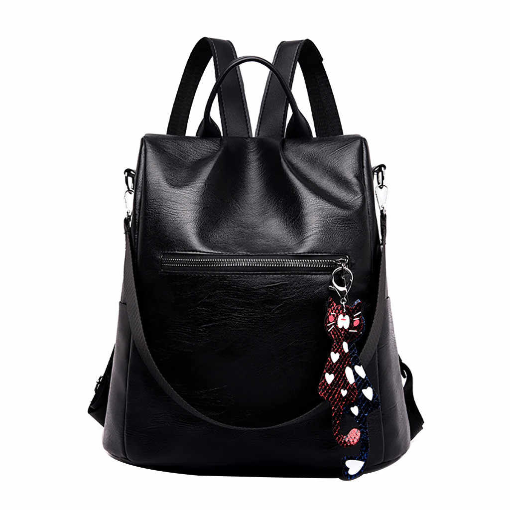 Female backpack leath Color Matching school bag Wild Fashion Leisure Travel Bag Student Bag Backpack shoulder bag women backpack