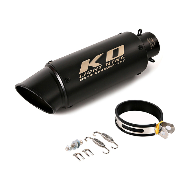 Motorcycle Exhaust Tip Pipe Stainless Steel 51mm 60.5mm Muffler Pipe 245mm 300mm Length Silencer Muffler Baffler System