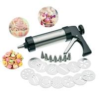 Stainless Steel Cookie Mould Cutter Press Making Gun Biscuits Cake Mold Press Maker Machine Dessert Decoration Kitchen Gadgets
