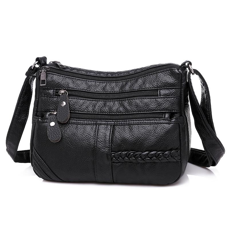 dm prime fênix bolsa de couro preta detalhes do zipper