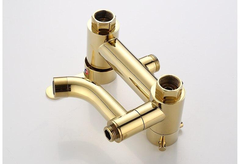Hdde4b219bbde4c7897a0e7bd46c363a3A Luxury Shower System Head Tube Shower System Rainfall Gold Shower Faucet Set Torneira Chuveiro Bathroom Accessories Sets BK50HS