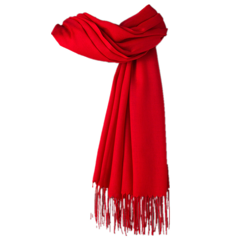 2020 Winter Women Scarf Thin Shawls and Wraps Lady long Solid hijab Stoles Cashmere Pashmina Cashmere