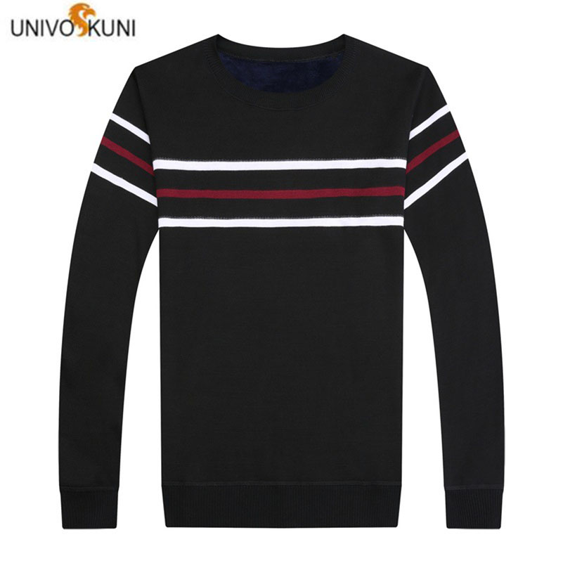 UNIVOS KUNI 2019 New Autumn Winter Men's Fashion Sweater Long Sleeved Warm Soft Slim Fit свитер мужской Large Size M-4XL J629