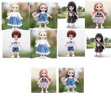 Boneca roupas 16cm bonecas vestido/roupas adorável bjddolls moda vestido menina vestir-se bonecas acessórios (sapatos não estão incluídos)