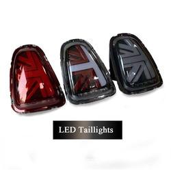 1 par luz trasera LED luces traseras Rojas grises negras para BMW MINI R55 R56 R57 R60 R61 F55 F56 F57 luces traseras estilo Union Jack