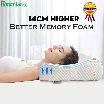 PurenLatex 14 cm wysokiej z pianki Memory Contour poduszka ortopedyczna szyi kręgu szyjnego wsparcie pielęgnacja skóry szyi pościel duża duża poduszka tanie i dobre opinie CN (pochodzenie) BODY Do pościeli 500tc Stałe Memory Foam Poliester Bawełna pamięć NECK Klasy A Contour Orthopedic Pillow Bedding Pillow Big Pillow Long Pillow