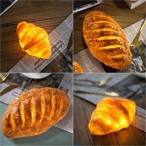 Image 5 - Handgemaakte Brood Nachtlampje Creatieve Eettafel Slaapkamer Home Decoratieve Simulatie Led Brood Lamp Valentijnsdag Gift