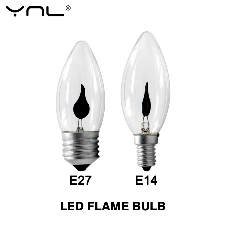 LED Flame Effect Bulb E27 E14 LED Candle Light Edison Bulb Fire Lamp Flickering Lighting Vintage 220V Ampoule LED For Home Decor