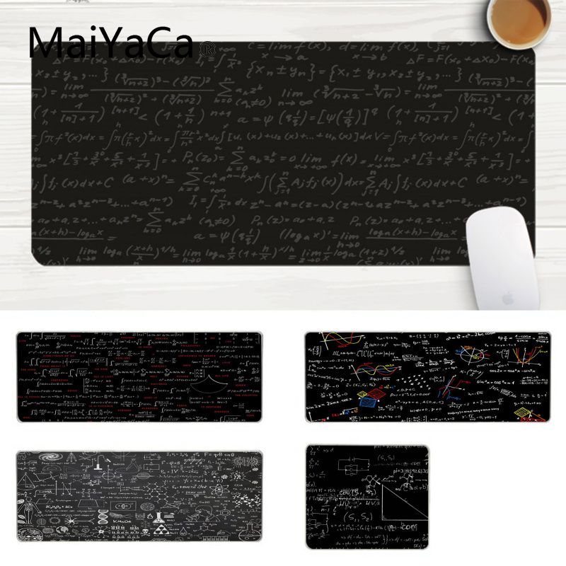 MaiYaCa Science Math Chalkboard Customized MousePads Computer Laptop Anime Mouse Mat Large Lockedge Mouse pad PC Computer mat image