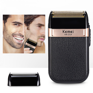 Kemei Beard Trimmer Electric Shavers for Men Hair Finishing Machine Shaving Rechargeable Head Razor Portable Travel Km 2024