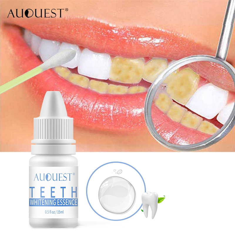 AuQuest Mint Teeth Whitening Essence Oral Hygiene Cleaning Serum Stain Remover Oral Fresh Breath Tooth Liquid Teeth Care Dental
