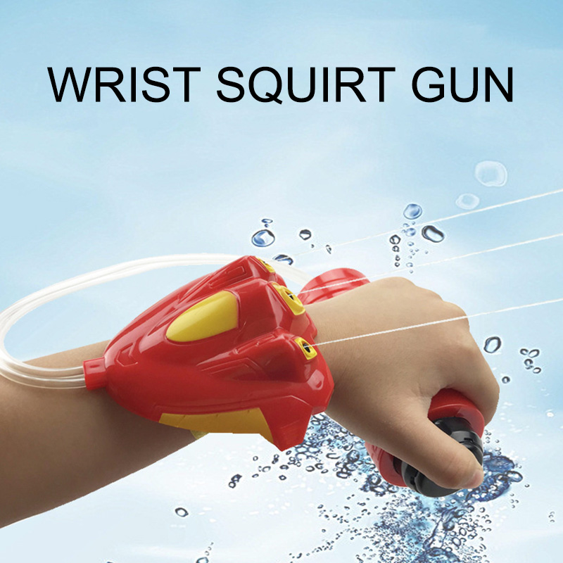 Wrist Water Gun Kids Summer Pool Beach Water Play Toys Leisure Entertainment Safe Parent-Child Battle Water Gun Toy 200ml