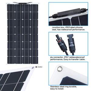 Image 5 - XINPUGUANG 100 واط 18 فولت أو 16 فولت مرنة خلية لوحية شمسية 100 واط وحدة أحادية البلورية sunpower الطلاء الشمسية 12 فولت شاحن بطارية