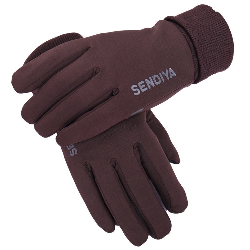 New Autumn And Winter Outdoor Sports Touch Screen Mens Gloves Off-Road Non-slip Warm Plus Velvet Driving Ladies Gloves