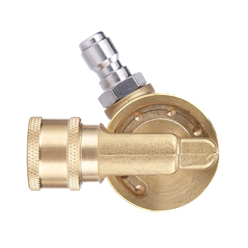 Pivoting Coupler For Pressure Washer Nozzle, Gutter Cleaner Attachment For Gutter Cleaning, 240 Degree, 4500 Psi, 1/4 Inch Quick