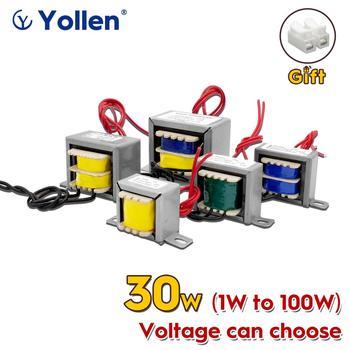 EI 30W Wire Cable Connect Power Transformer 30VA Voltage Customized 220V/380V to 6V/9V/12V/15V/18V/24V/110V Dual Output 3 Wire ring type 400w toroidal power transformer circle voltage can custom 220v 380v to 6v 9v 12v 15v 18v 24v face mask machine 400va