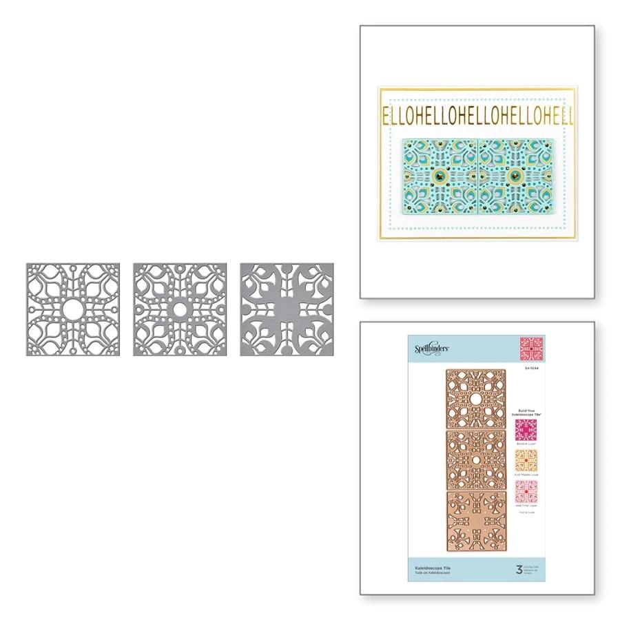 Metal Cutting Dies Kaleidoscope Tile Cut Die Mold Decoration Scrapbook Paper Craft Knife Mould Blade Punch Stencils Die