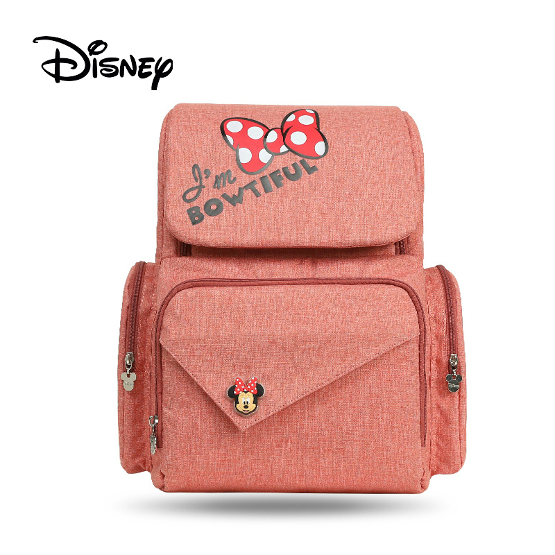 Disney diaper bag with usb mummy bag mickey mouse bag Zipper Multi functional maternal and child
