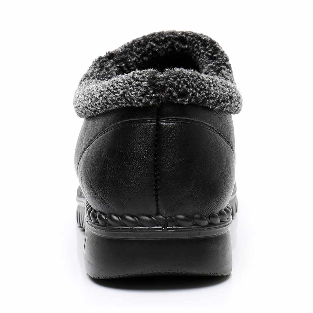 Botas de nieve poco profundas para mujer más botas de algodón antideslizantes de terciopelo cálido de invierno de senderismo de algodón cálido de piel de felpa plantilla zapatos para mujer