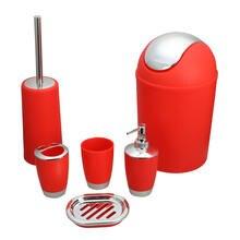 6 шт набор аксессуаров для ванной комнаты пластиковый держатель