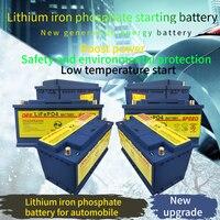 100ah Lifepo4 12V Lithium Ijzer Batterij Voor Starter Auto Ups Batterij Met Gebalanceerde Bms Auto Li Batterij Vervangen Lood-Zuur Batterijen