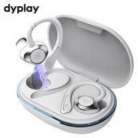 Dyplay-auriculares inalámbricos TWS con Bluetooth 5,0, audífonos deportivos intrauditivos con sonido estéreo 3D y micrófono para correr, resistentes al agua IPX7