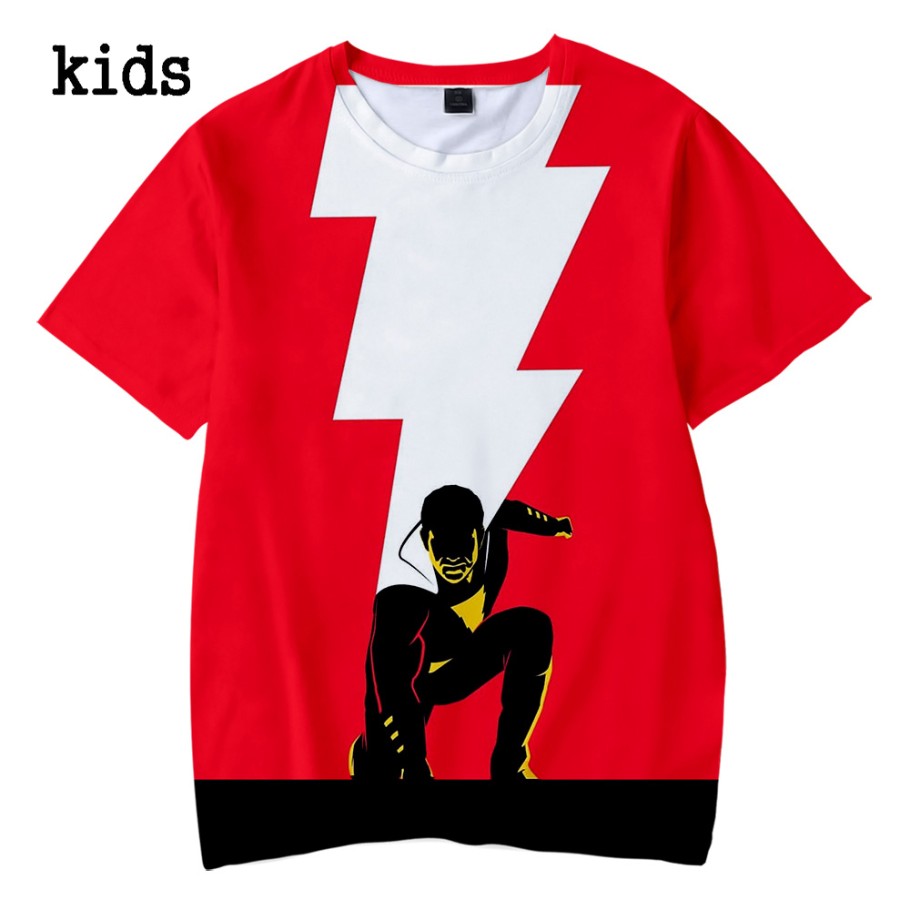 7 5//6 BIG SHAZAM LOGO Licensed T-Shirt KIDS Sizes 4