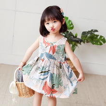 1Y-5Y Infantile Vest Cotton Princess Dress Casual Clothes Cute Baby Girl Sleeveless Kid Dress Mini Princess Child Clothing summer casual fashion baby girl cute sleeveless stripe suspender ruffle princess dress kids 1 5y baby girl dress
