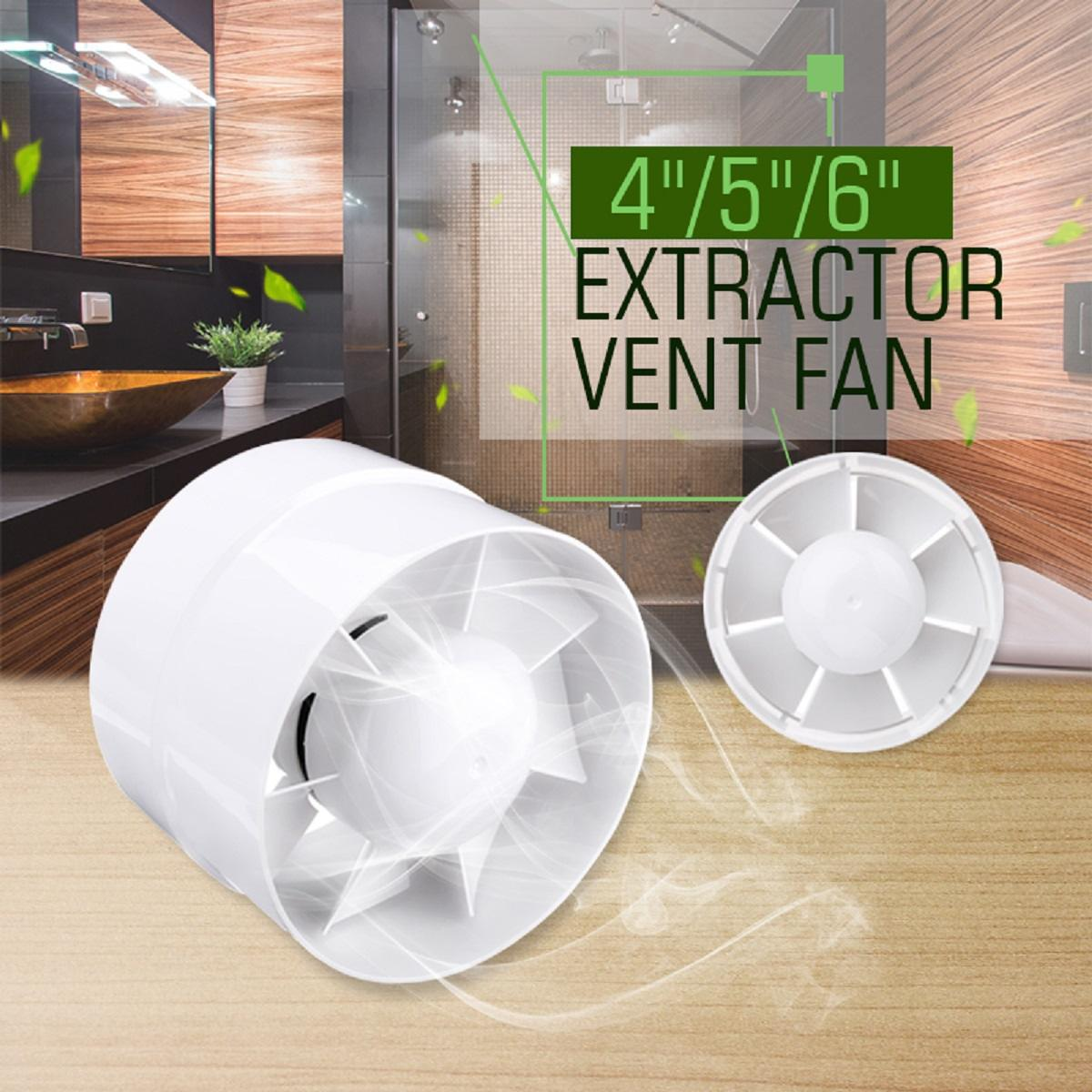 4 5 6 Inch Waterproof Mute Bathroom Extractor Exhaust Fan Window
