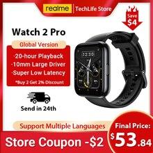 Смарт-часы realme Watch 2 pro, 14 дней без подзарядки, 1,75 дюйма, GPS, 90 спортивных режимов
